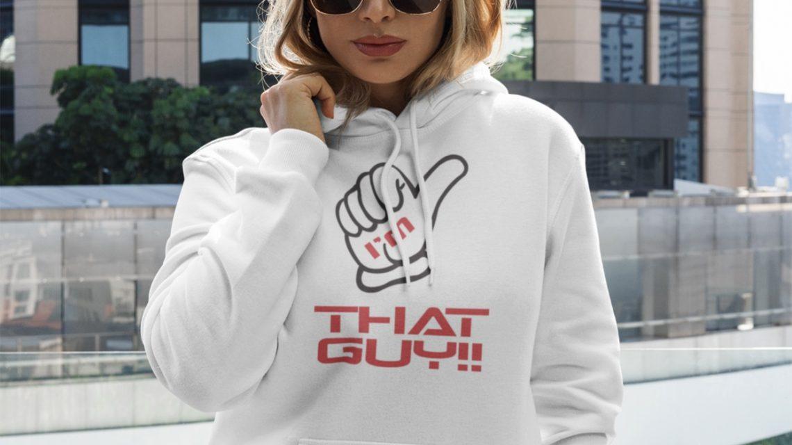 Female white hoodie